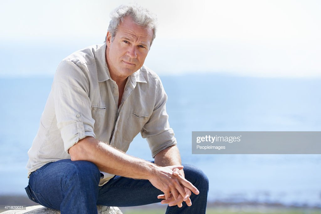 Years of rugged experience are reflected in his face : Stock Photo