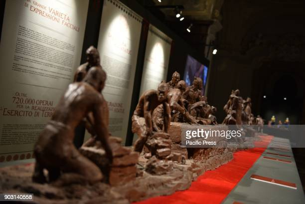 2000 years old China in the heart of Napoli 170 large terracotta warriors all lifesize are showed in Napoli in the nave of the Basilica of the Santo...