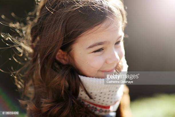 a 6 years old girl in the countryside - 6 7 years stock pictures, royalty-free photos & images