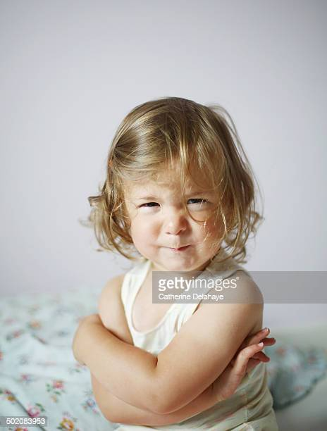 a 2 years old girl sulking - 2 3 years stock pictures, royalty-free photos & images