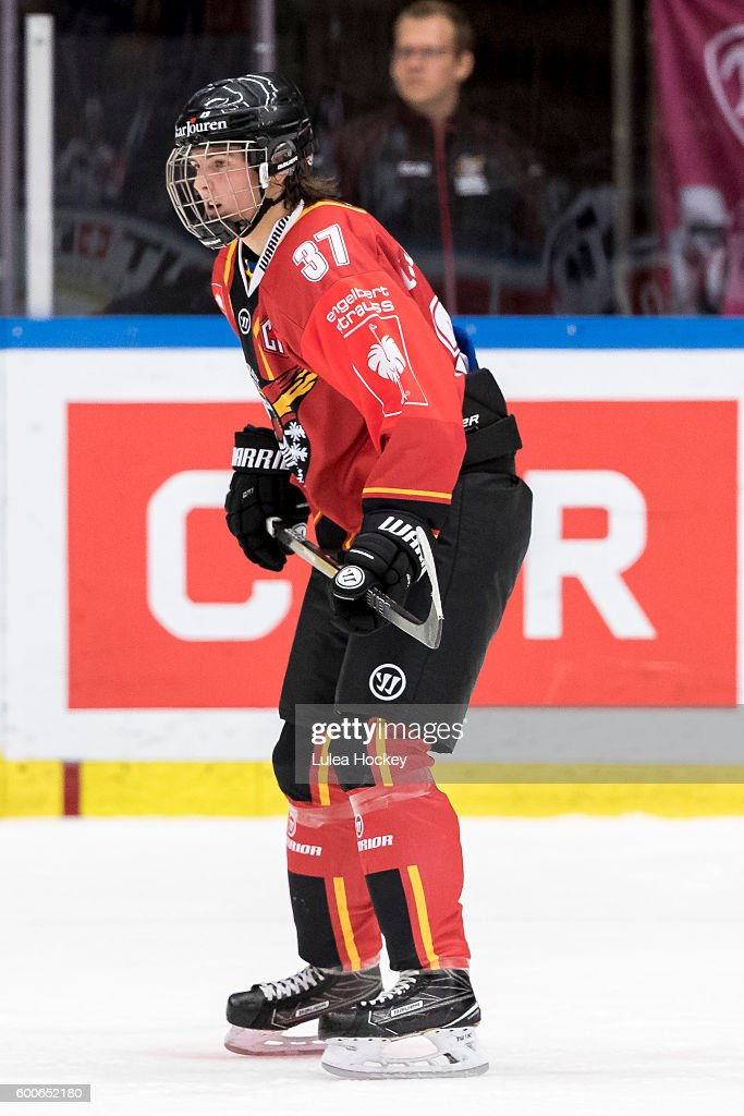16 Years Old Isac Lundestrom Of Lulea Hockey During The Champions