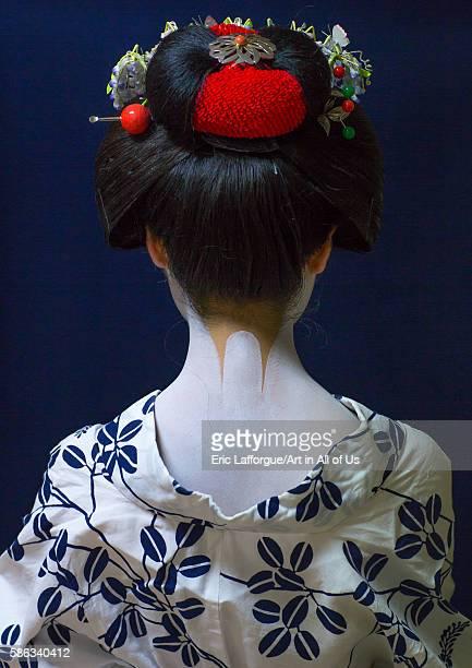 16 years old maiko back called chikasaya kansai region kyoto Japan on May 27 2016 in Kyoto Japan
