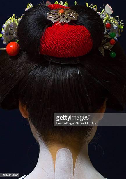 16 years old maiko called chikasaya neck kansai region kyoto Japan on May 27 2016 in Kyoto Japan