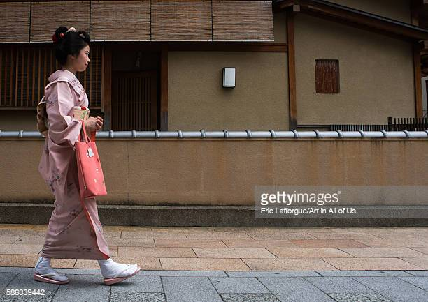 16 years old maiko called chikasaya walking in the streets of gion kansai region kyoto Japan on May 27 2016 in Kyoto Japan
