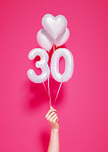 30 years old. Number 30th anniversary,
