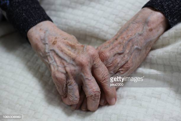 102 years old woman's hands