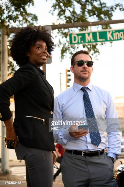 LAW 25 Years to Life Episode 103 Pictured MaameYaa Boafo as Briana Johnson Barry Sloane as Jake Reilly