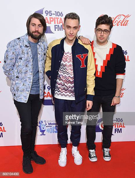 Years Years attend day one of the Capital FM Jingle Bell Ball at The O2 Arena on December 5 2015 in London England