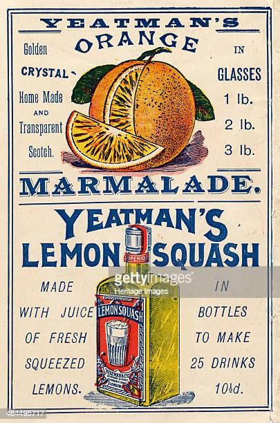 Yeatman's Orange Marmalade & Lemon Squash, c.1910.