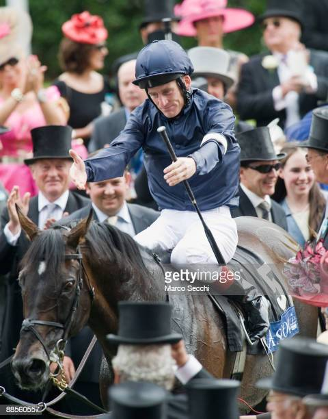 Yeats ridden by jockey Johnny Murtagh wins The Gold Cup race at Royal Ascot for the fourth time at Ascot Racecourse on June 18 2009 in Ascot England
