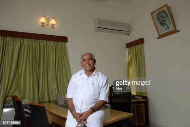 Yeddyurappa Chief Minister of Karnataka photographed during an interview with Mint at CM Residence in Bangalore