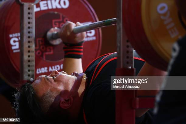 Yee Khie Jong of Malaysia competes during the Men's Up to 97Kg Group A Category as part of the World Para Powerlifting Championship Mexico 2016 at...