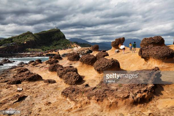 yehliu geopark landscape, taiwan - new taipei city stock pictures, royalty-free photos & images