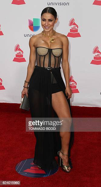 Yeini Mora arrives for the 17th Annual Latin Grammy Awards on November 17 in Las Vegas Nevada / AFP / Tommaso Boddi