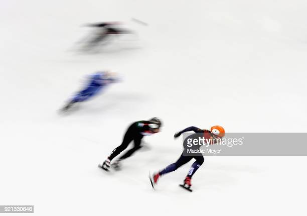 Yejin Athletes compete in the Ladies Short Track Speed Skating 3000m Relay Final A on day eleven of the PyeongChang 2018 Winter Olympic Games at...
