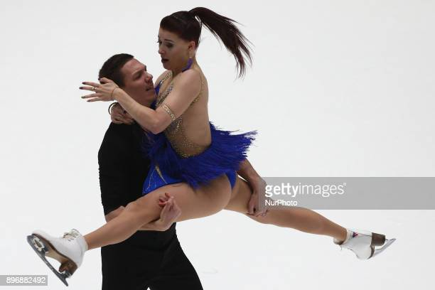 Yekaterina Bobrova and Dmitry Solovyev perform a short program in ice dancing at the Russian Figure Skating Championship in St Petersburg