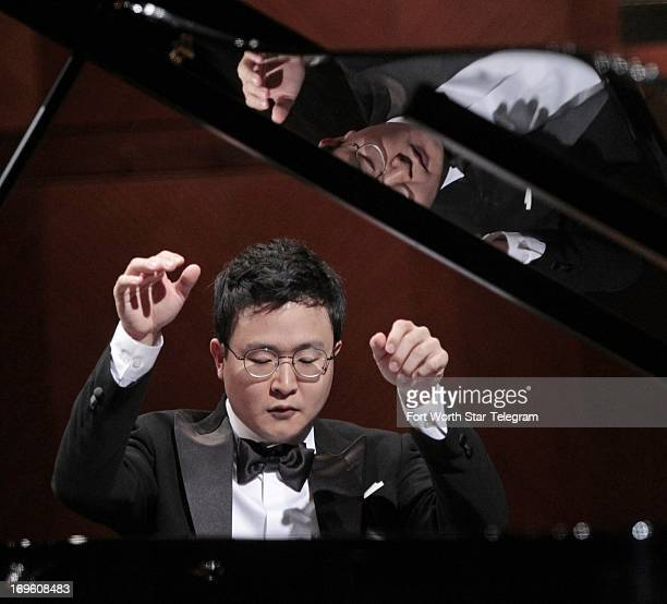 Yekwon Sunwoo of South Korea performs during the 14th Van Cliburn International Piano Competition at Bass Performance Hall in Fort Worth Texas on...