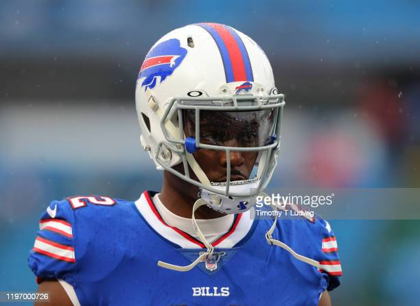 Yeldon of the Buffalo Bills before a game against the New York Jets at New Era Field on December 29, 2019 in Orchard Park, New York. Jets beat the...