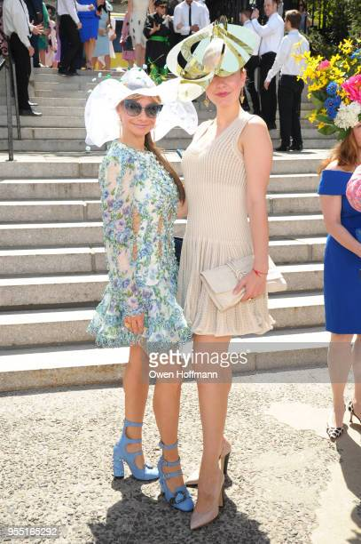 Yelena Feuerman and Katia Gorky attend 36th Annual Frederick Law Olmsted Awards Luncheon Central Park Conservancy at The Conservatory Garden in...