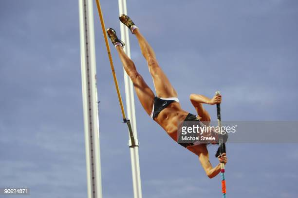 Yelena Isinbaeva of Russia in the women's pole vault during day one of the IAAF World Athletics Final at the Kaftanzoglio Stadium on September 12...