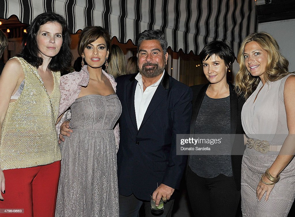 Yelena Monzina of NY&C, Eva Mendes, Luis Barajas of Flaunt, Cassandra Grey and Marielle Gelber attend Eva Mendes Exclusively At New York & Company Spring Launch Dinners at Chateau Marmot on March 18, 2014 in Los Angeles, California.