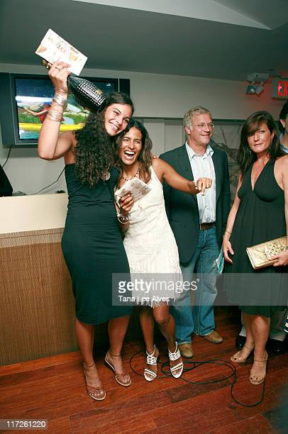Yelena Noah and Muriel Hurtado during Hampton Princess Race, Supported by Clarins Paris & Diane von Furstenberg - After Party at Nello Summertime's...