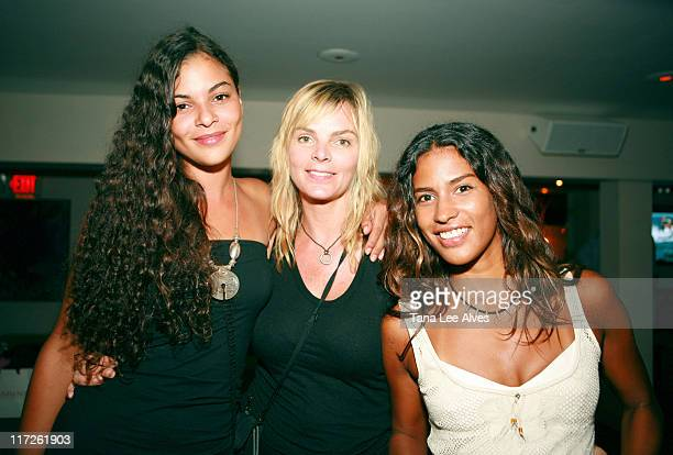 Yelena Noah, Cecilia Noah and Muriel Hurtado during Hampton Princess Race, Supported by Clarins Paris & Diane von Furstenberg - After Party at Nello...