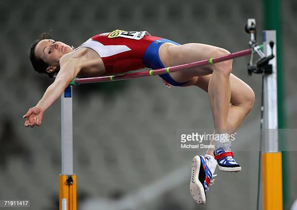 Yelena Slesarenko of Russia in action during the high jump during the 10th IAAF World Cup in Athletics on September 17 2006 at the Olympic Stadium in...