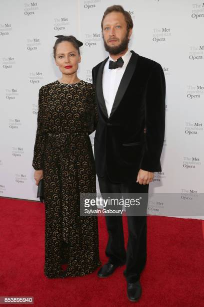 Yelena Yemchuk and Ebon MossBachrach attend Metropolitan Opera Opening Night Gala at Lincoln Center on September 25 2017 in New York City