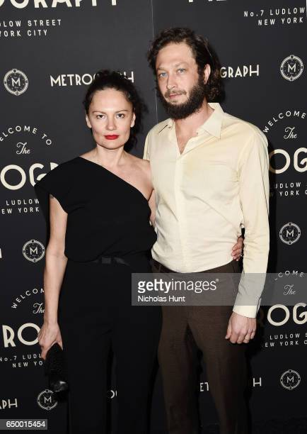 Yelena Yemchuk and Ebon MossBachrach attend the Metrograph Theater 1st Year Anniversary Party at The Metrograph on March 8 2017 in New York City
