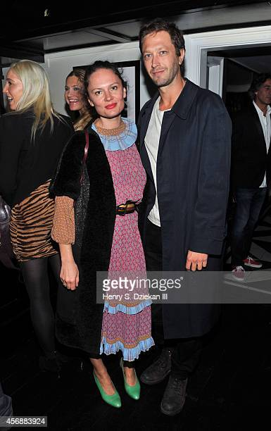 Yelena Yemchuk and Ebon MossBachrach attend the Sundance Selects with W Magazine Moncler and The Cinema Society after party for the NYFF premiere of...