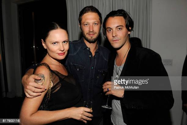 Yelena Yemchuk and Jack Houston attend ANOTHER MAGAZINE Equipment Dinner at Milk Studios Penthouse on September 14 2010 in New York City
