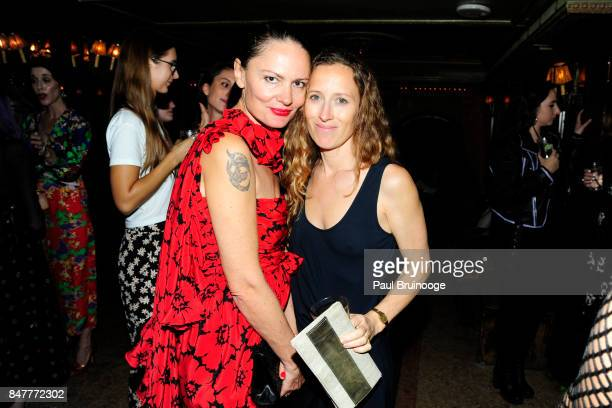 Yelena Yemchuk and Shauna Robertson attend the Party for the 2nd Anniversary of Lenny at The Jane Hotel on September 15 2017 in New York City