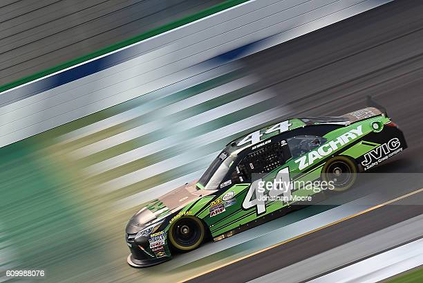 Yeley driver of the Zachry Toyota on track during practice for the NASCAR XFINITY Series VysitMyrtleBeachcom 300 at Kentucky Speedway on September 23...
