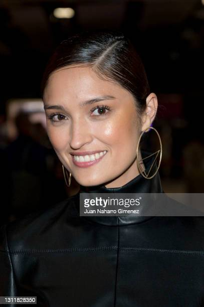 Yelimar attends Angel Schlesser fashion show during the Merecedes Benz Fashion Week April 2021 edition at Ifema on April 10, 2021 in Madrid, Spain.
