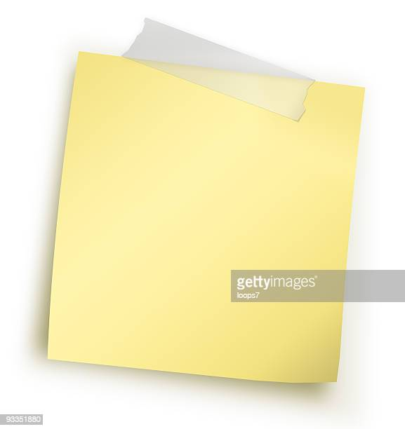 yellow adhesive note - loops7 stock photos and pictures