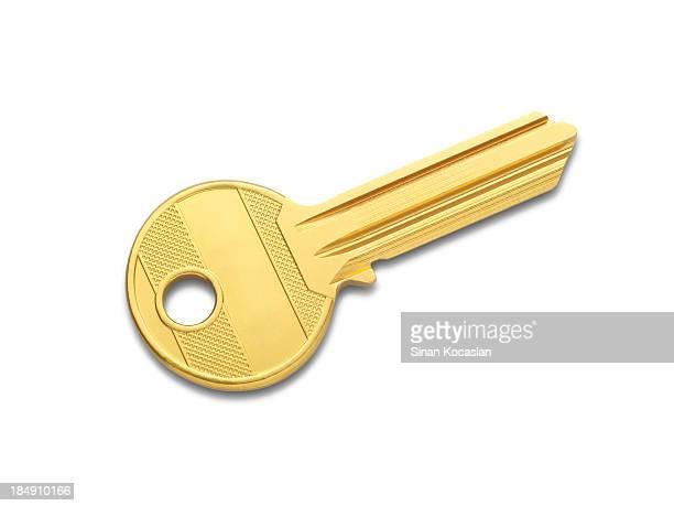 Yellow aluminum key