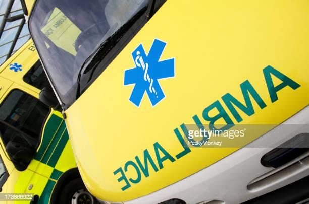 Yellow Ambulance Close-Up