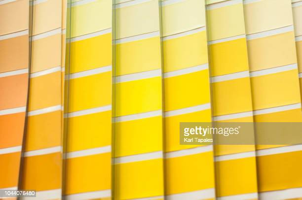 yellow and brown color palette - color swatch stock pictures, royalty-free photos & images