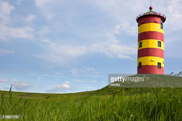 Yellow and Red Lighthouse