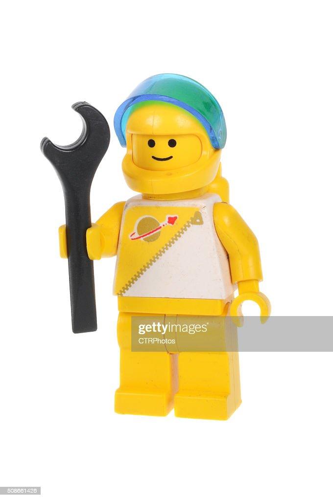 Yellow Astronaut Lego Minifigure : Stock Photo