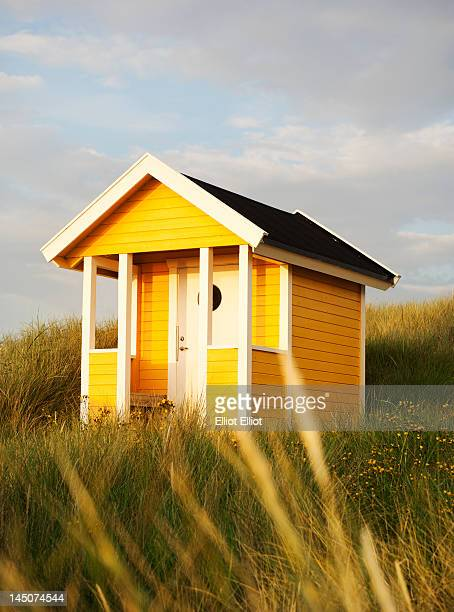 Yellow bathing hut
