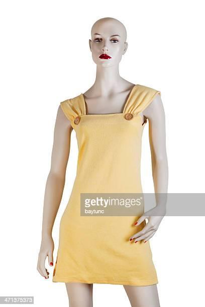 Yellow Bathrobe Short Model