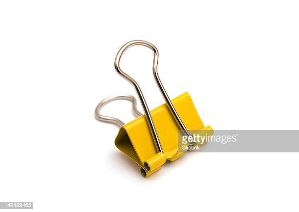 Yellow binder clip