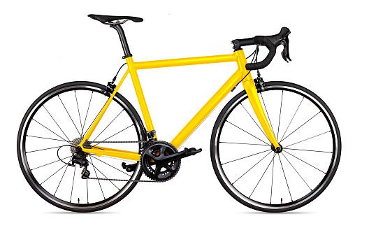 yellow black racing sport road bike bicycle racer isolated 1070233662