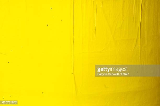 Yellow blank poster