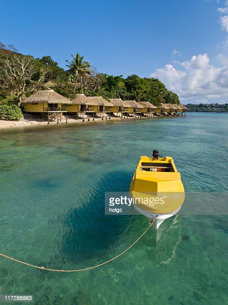 Yellow Boat on Efate Island
