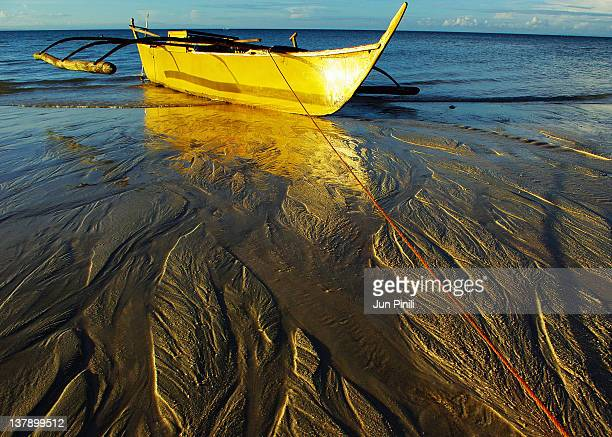 yellow boat - filipino culture stock pictures, royalty-free photos & images