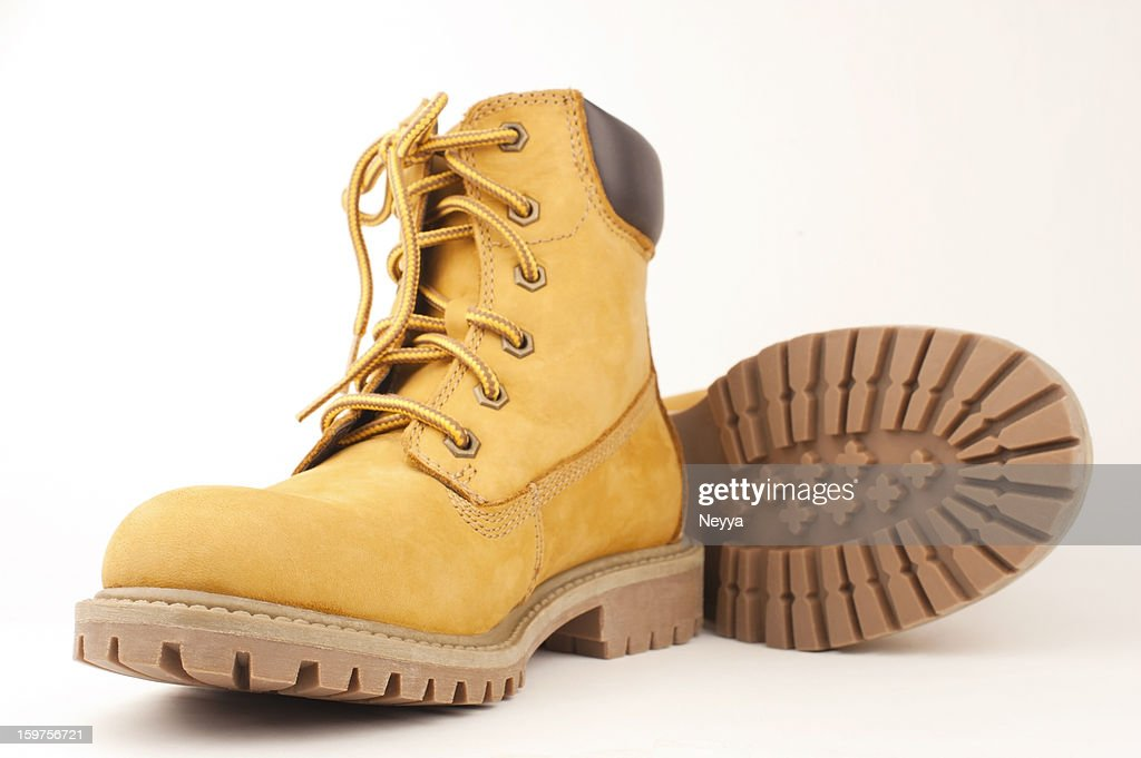 Yellow Boots : Stock Photo