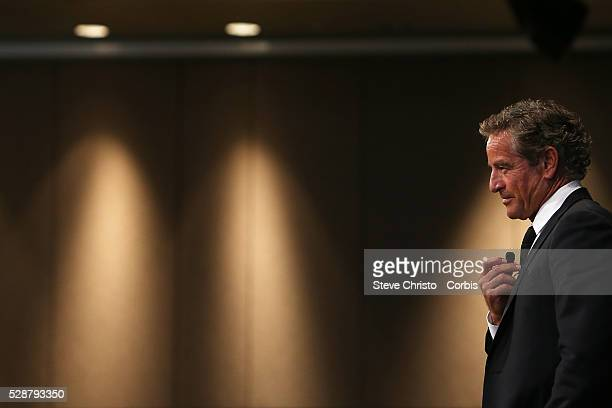 Yellow Brick Road Chief Executive and Celebrity Apprentice host Mark Bouris speaks at the Sydney FC In Business and Season Launch luncheon at the...